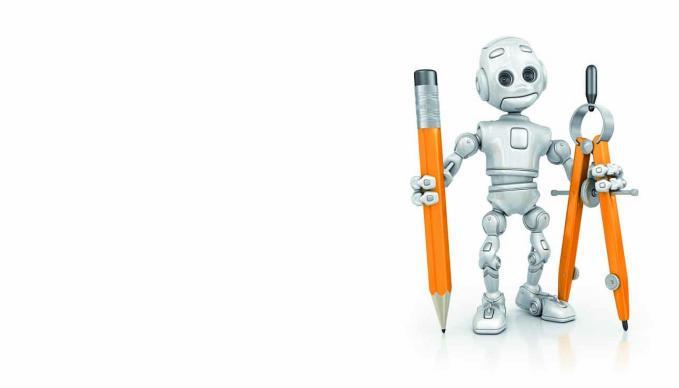 Bild mit Bleistifte haltender 3D-Figur
