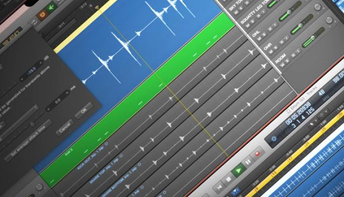 Bildausschnitt von einer Audio Editier-Software